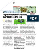 Higher Yields From Healthy Plants in Healthy Soil