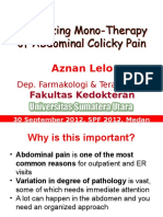 Optimizing Monotherapy of Colicky Abdominal Pain