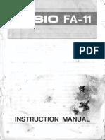 Casion FA-11 User Manual