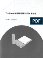 Tri Band GSM GPRS CF Card User Manual