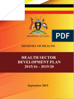 Uganda Health Sector Development Plan 2015/16-2019/20