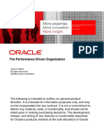 Oracle, The performance Driven Organization