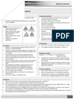 OCR A2 Chemistry Student Teacher Technician Worksheets Activity 5