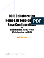 CCIE Collaboration Home Lab Topology and Base Configurations