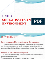 EVS Unit-IV Social Issue and the Environment
