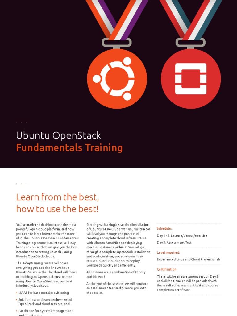 Ubuntu OpenStack Fundamentals Training | Open Stack | Ubuntu