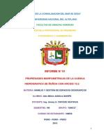Delimitacion de La Sub Cuenca Ñuñoa