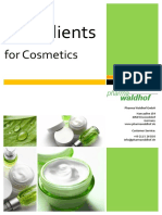Ingredients for Cosmetics Cosmetic