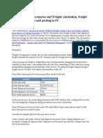LE Shipment Cost Configuration