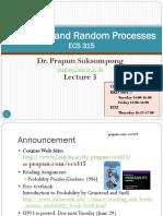 ECS315 - Lecture 3