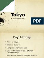 Tokyo Itenary