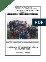Directiva- Vacaciones Utiles 2006