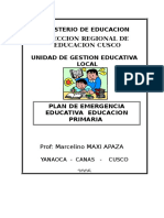 Plan de Emergencia Educativa