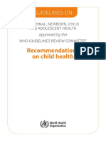Guidelines Recommendations Child Health