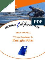 Dosier Instalaciones Energia Solar Termica