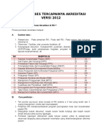 Kunci Sukses Tercapainya Akreditasi Versi 2012
