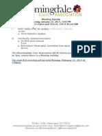 Bloomingdale Civic Association Meeting Agenda 2017 01 23