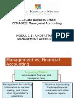 M1-1 Mgt Accounting & Org