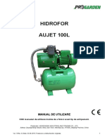 Manual de Instructiuni Hidrofor AUJET100L_MU