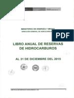 Libro de Reservas de hidrocarburos  2015