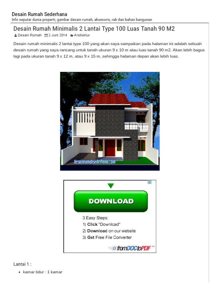 5400 Koleksi Gambar Rumah 2 Lantai Tanah 90 M2 Gratis Terbaik