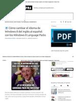 Cómo Cambiar El Idioma de Windows