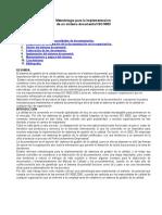 Metodologia Para Implementar Un Sistema de Calidad - Iso 9000