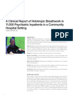 A Clinical Report of Holotropic Breathwork v23n1_p24-27
