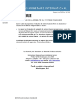 Risque en Algérie FMI