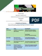CALENDÁRIO 2017 FECHADO Tel@ Amazonia - Com Info Palestrantes