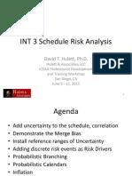 Schedule Risk Analysis