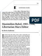 Kevin Anderson - Maximilien Rubel Memoriam