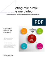Marketing Mix o Mix de Mercadeo