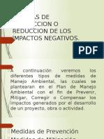 Medidas de Correccion o Reduccion de Los Impactos