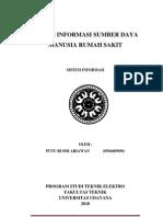 Sistem Informasi Sumber Daya Manusia Rumah Sakit