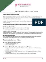 Intermediate Microsoft Access 2010