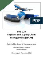 Course Outline Questions 508220 Logistics and SCM Sorawit Aug 2016