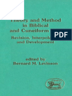 Bernard M. Levinson Theory and Method in Biblical and Cuneiform Law Revision Revision, Interpolation and Development JSOT Supplement Series  1994.pdf