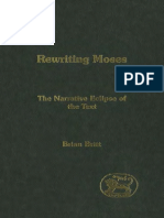 Brian Britt Rewriting Moses The Narrative Eclipse of the Text JSOT Supplement Series 2004.pdf