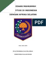 Perbedaan Mahkamah Konstitusi Indonesia Dengan Afrika Selatan