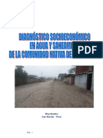 Diagnostico Socioeconómico - MORROYACU