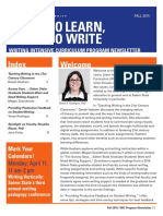 Write to Learn, Learn to Write (Fall 2015)