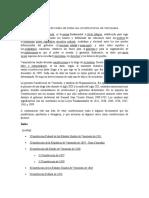 Origen y Formaciones de Todas de Todas Las Constituciones de Venezuela