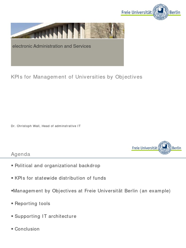 Day 2 - KPIs for Managing a University by Objectives