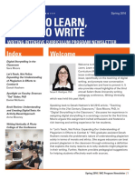 Write to Learn, Learn to Write (Spring 2016)