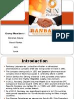 Ranbaxy & Sunpharma M&A