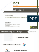 Rethinking Excel to CI