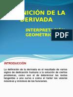 DERIVADAS (Interpretacion geometrica)