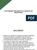 Acţionarea Pneumatică a Roboţilor Industriali
