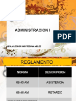 Administracion i. Bloque i